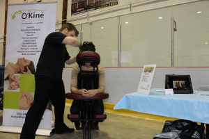 Massage sur chaise au Diapason Granby