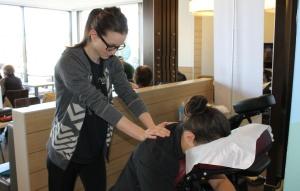 Massage de dos au McDon