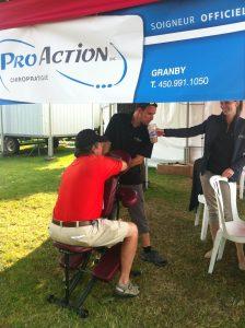 Massage sur chaise - Challenger de Tennis à Granby