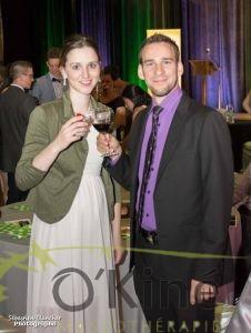 1-Alexandra Beaudet-Lamarre et Benoit Racine. Gala Jeunes entreprises.