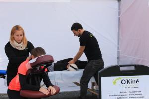 Demi marathon de Granby. Massage sportif